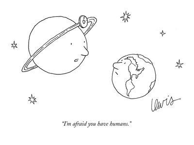 """I'm afraid you have humans."" - New Yorker Cartoon-Eric Lewis-Premium Giclee Print"