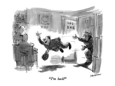 """I'm back!"" - New Yorker Cartoon-James Stevenson-Premium Giclee Print"