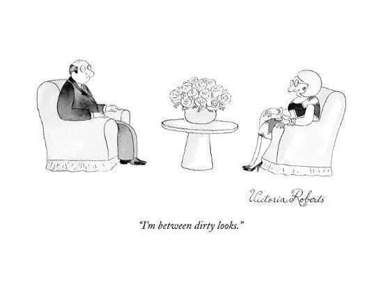 """I'm between dirty looks."" - New Yorker Cartoon-Victoria Roberts-Premium Giclee Print"