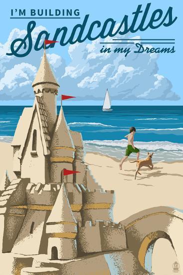 I'm Building Sandcastles in My Dreams-Lantern Press-Wall Mural