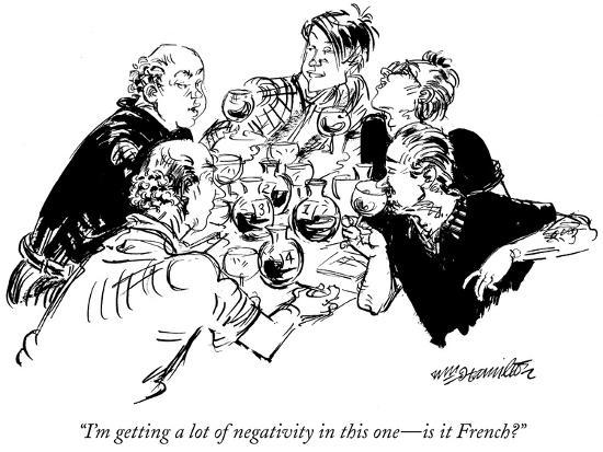 """""""I'm getting a lot of negativity in this one—is it French?"""" - New Yorker Cartoon-William Hamilton-Premium Giclee Print"""