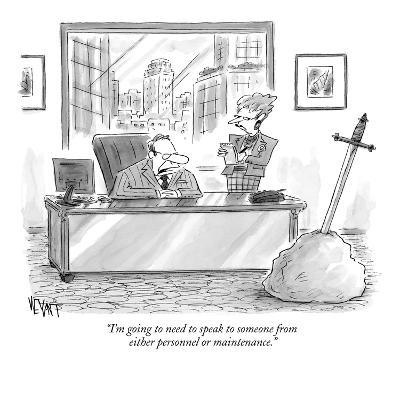 """""""I'm going to need to speak to someone from either personnel or maintenance."""" - New Yorker Cartoon-Christopher Weyant-Premium Giclee Print"""