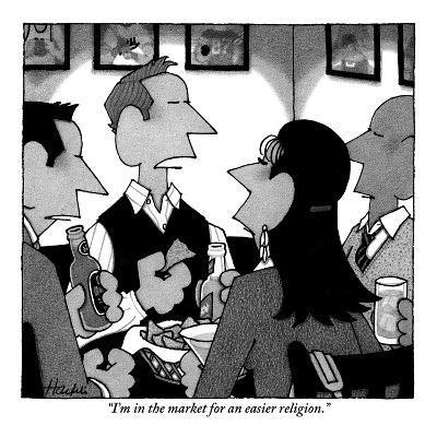 """""""I'm in the market for an easier religion."""" - New Yorker Cartoon-William Haefeli-Premium Giclee Print"""