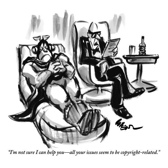 """""""I'm not sure I can help you—all your issues seem to be copyright-related."""" - New Yorker Cartoon-Lee Lorenz-Premium Giclee Print"""