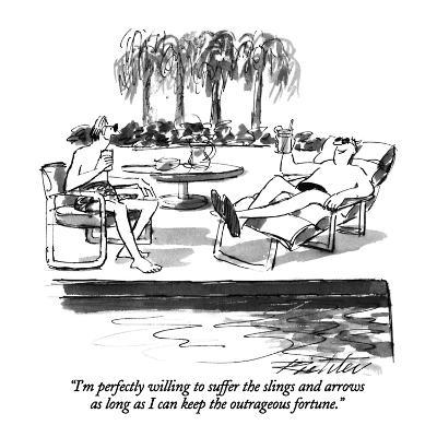 """""""I'm perfectly willing to suffer the slings and arrows as long as I can ke?"""" - New Yorker Cartoon-Mischa Richter-Premium Giclee Print"""