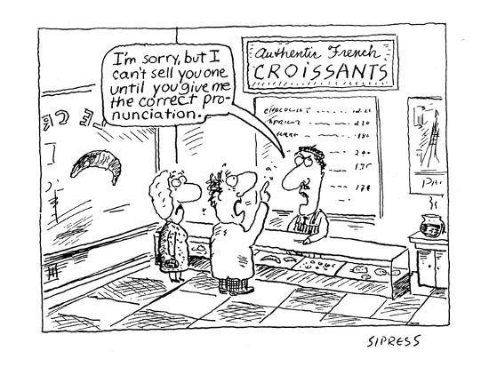 I'm sorry, but I can't sell you one until you give me the correct pronunci? - Cartoon-David Sipress-Premium Giclee Print