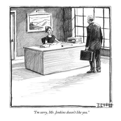 """I'm sorry, Mr. Jenkins doesn't like you."" - New Yorker Cartoon-Matthew Diffee-Premium Giclee Print"
