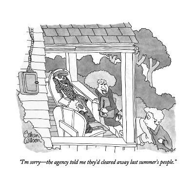 """""""I'm sorry?the agency told me they'd cleared away last summer's people."""" - New Yorker Cartoon-Gahan Wilson-Premium Giclee Print"""
