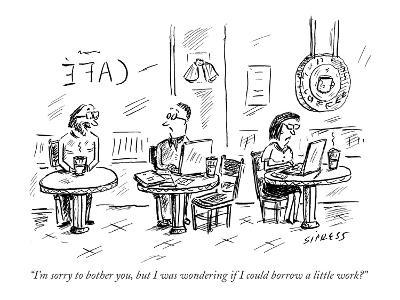 """""""I'm sorry to bother you, but I was wondering if I could borrow a little w?"""" - New Yorker Cartoon-David Sipress-Premium Giclee Print"""
