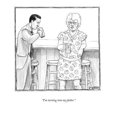 """I'm turning into my father."" - New Yorker Cartoon-Matthew Diffee-Premium Giclee Print"
