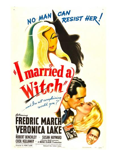 I Married a Witch, Fredric March, Veronica Lake, Robert Benchley, 1942--Photo