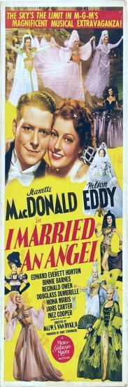 I Married an Angel, Jeanette MacDonald, Nelson Eddy, 1942--Art Print
