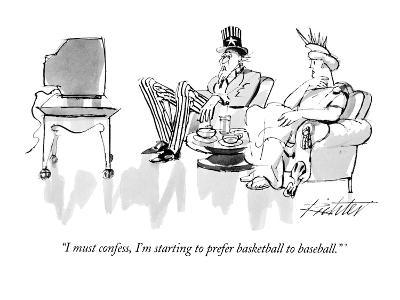 """I must confess, I'm starting to prefer basketball to baseball."" - New Yorker Cartoon-Mischa Richter-Premium Giclee Print"
