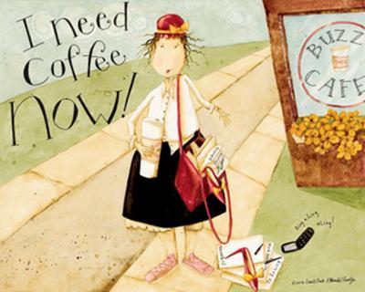 I Need Coffee-Dan Dipaolo-Art Print