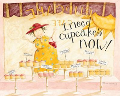 I Need Cupcakes-Dan Dipaolo-Art Print