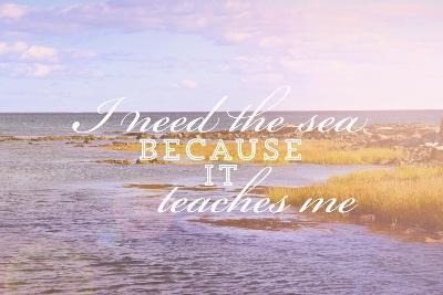 I Need the Sea-Vintage Skies-Giclee Print