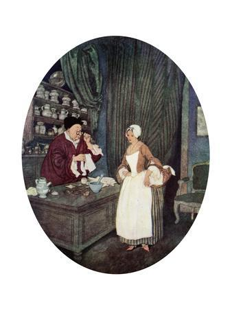 I Never at Saw Sewing So Small, C1900-1950--Giclee Print