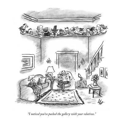 """I noticed you've packed the gallery with your relatives."" - New Yorker Cartoon-Frank Cotham-Premium Giclee Print"