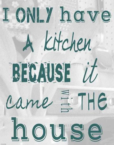 I Only Have a Kitchen Because it Came With the House-Veruca Salt-Art Print