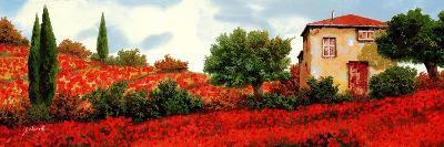 I Papaveri Sulle Colline-Guido Borelli-Art Print