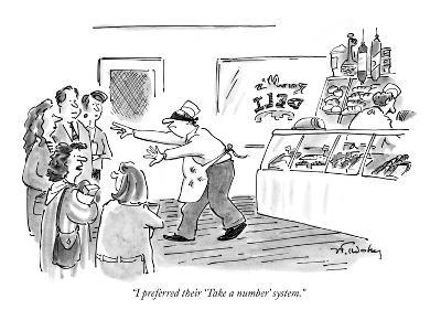 """I preferred their 'Take a number' system."" - New Yorker Cartoon-Mike Twohy-Premium Giclee Print"