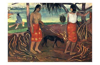 I Raro Te Oviri, c.1891-Paul Gauguin-Art Print