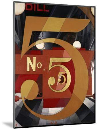 I Saw the Figure 5 in Gold-Charles Demuth-Mounted Premium Giclee Print