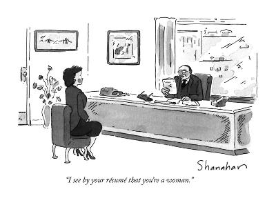 I See By Your Resume That You Re A Woman New Yorker Cartoon