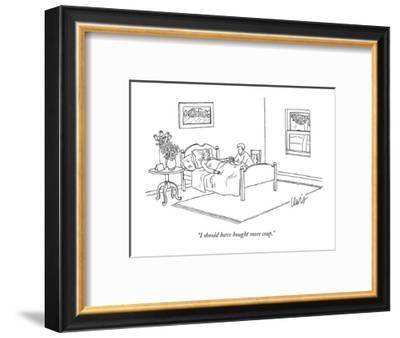 """""""I should have bought more crap."""" - New Yorker Cartoon-Eric Lewis-Framed Premium Giclee Print"""