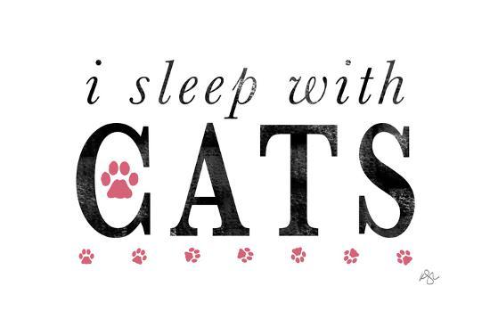 I Sleep with Cats-Kimberly Glover-Giclee Print