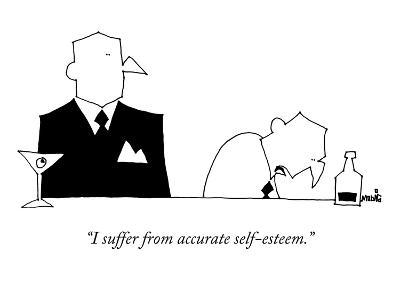 """I suffer from accurate self-esteem."" - New Yorker Cartoon-Ariel Molvig-Premium Giclee Print"