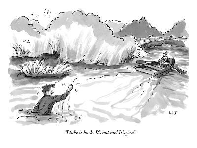 """I take it back. It's not me! It's you!"" - New Yorker Cartoon-Carolita Johnson-Premium Giclee Print"