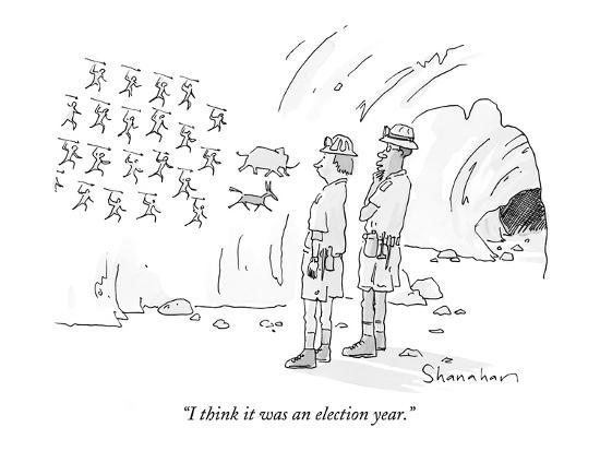 "I think it was an election year."" - New Yorker Cartoon' Premium Giclee  Print - Danny Shanahan 