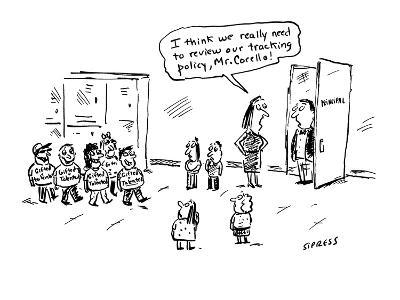 I think we really need to review our tracking policy, Mr. Corello!' - Cartoon-David Sipress-Premium Giclee Print