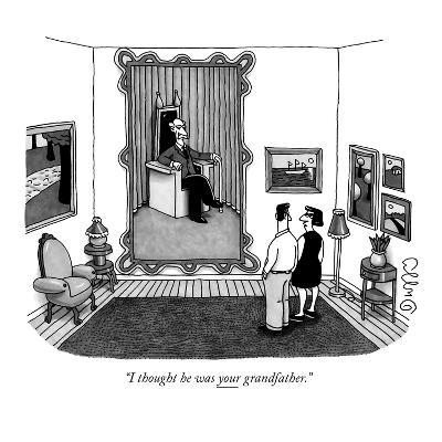 """""""I thought he was your grandfather."""" - New Yorker Cartoon-J.C. Duffy-Premium Giclee Print"""