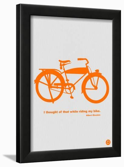 I Thought Of That While Riding My Bike-NaxArt-Framed Art Print