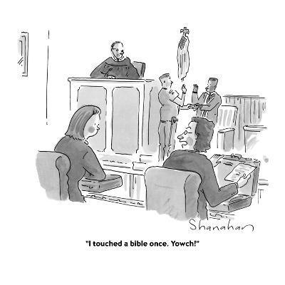 """""""I touched a bible once. Yowch!"""" - Cartoon-Danny Shanahan-Premium Giclee Print"""