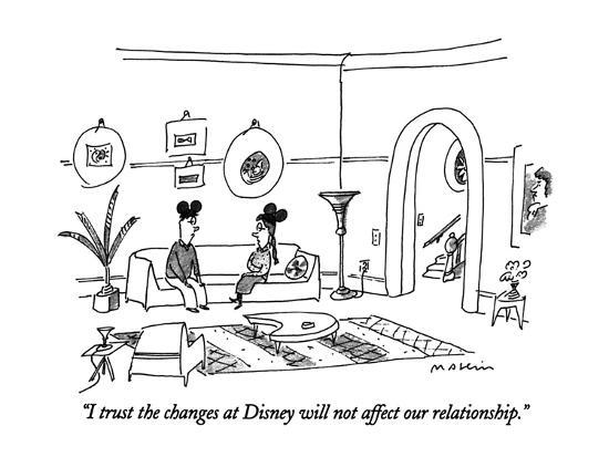 """I trust the changes at Disney will not affect our relationship."" - New Yorker Cartoon-Michael Maslin-Premium Giclee Print"