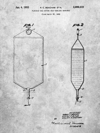 I.V. Bag Patent-Cole Borders-Art Print