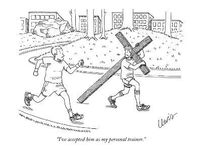 """""""I've accepted him as my personal trainer."""" - New Yorker Cartoon-Eric Lewis-Premium Giclee Print"""