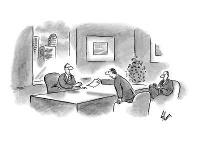 """I've arranged our options according to their legality."" - New Yorker Cartoon-Frank Cotham-Premium Giclee Print"