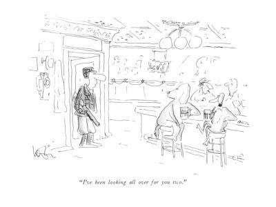 """""""I've been looking all over for you two."""" - New Yorker Cartoon-Arnie Levin-Premium Giclee Print"""