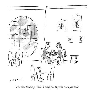 """""""I've been thinking, Neil, I'd really like to get to know you less."""" - New Yorker Cartoon-Michael Maslin-Premium Giclee Print"""