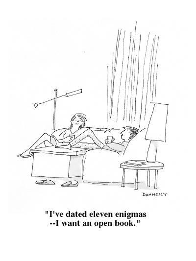 """""""I've dated eleven enigmas?I want an open book."""" - Cartoon-Liza Donnelly-Premium Giclee Print"""