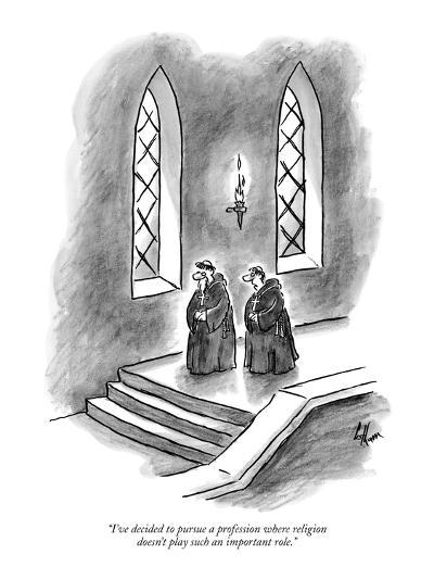 """I've decided to pursue a profession where religion doesn't play such an i?"" - New Yorker Cartoon-Frank Cotham-Premium Giclee Print"