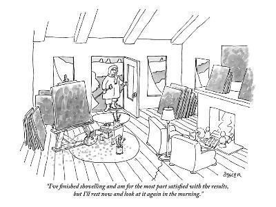"""""""I've finished shovelling and am for the most part satisfied with the resu?"""" - New Yorker Cartoon-Jack Ziegler-Premium Giclee Print"""