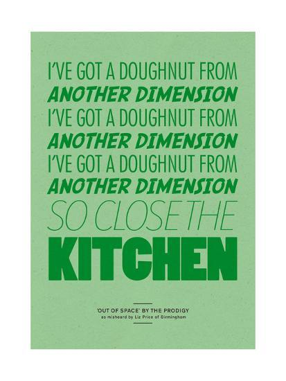 I've Got a Doughnut from Another Dimension-Peter Reynolds-Giclee Print
