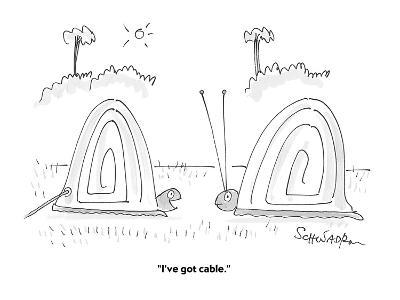 """I've got cable."" - Cartoon-Harley L. Schwadron-Premium Giclee Print"