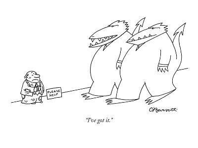 """I've got it."" - New Yorker Cartoon-Charles Barsotti-Premium Giclee Print"