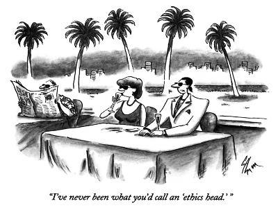 """I've never been what you'd call an 'ethics head.' "" - New Yorker Cartoon-Frank Cotham-Premium Giclee Print"